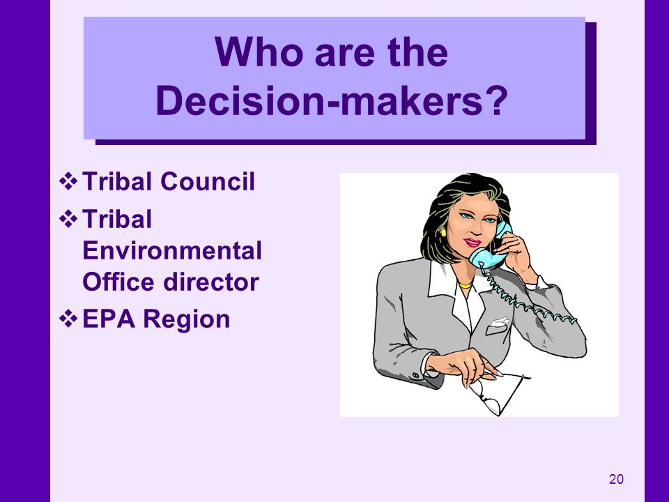 Who are the Decision-makers
