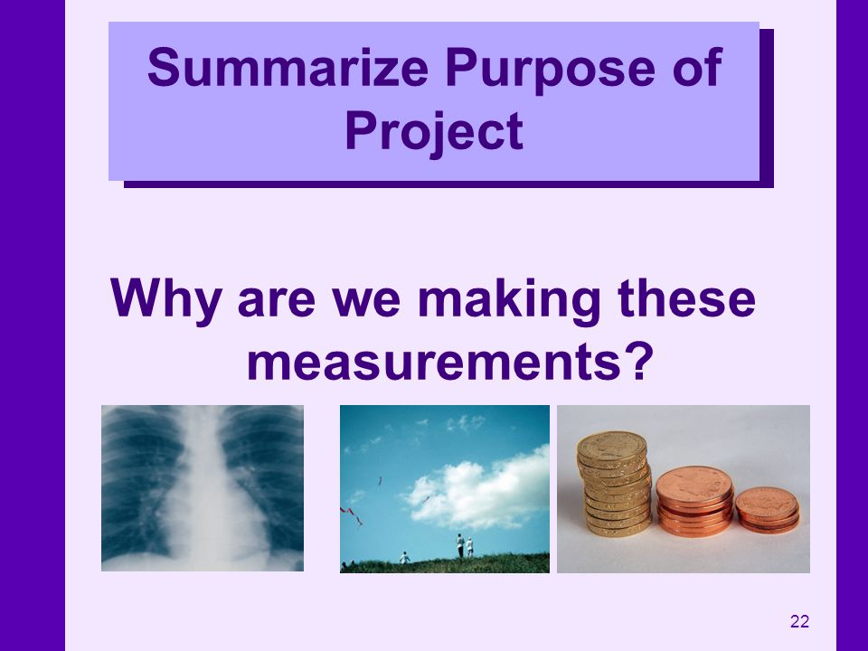 Summarize Purpose of Project