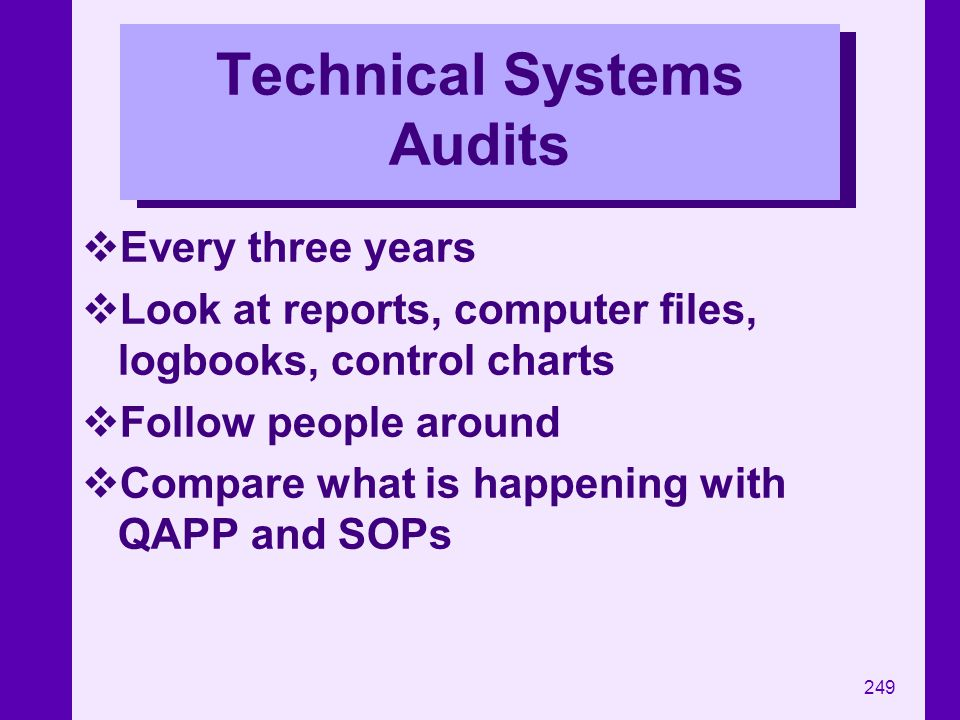 Technical Systems Audits