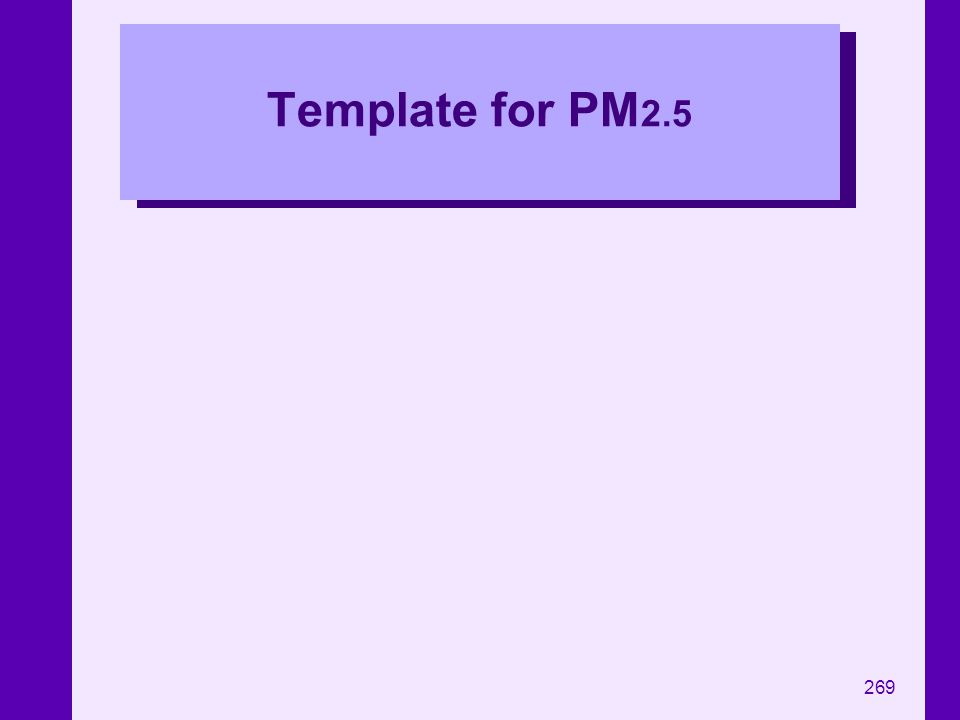 Template for PM2.5