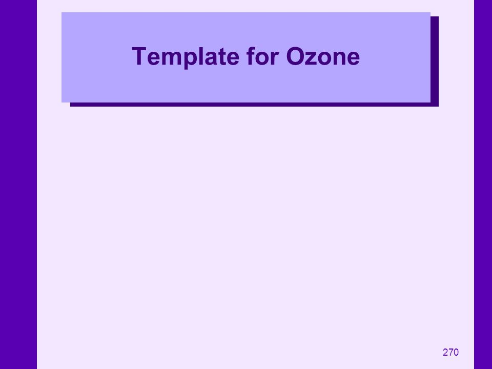 Template for Ozone
