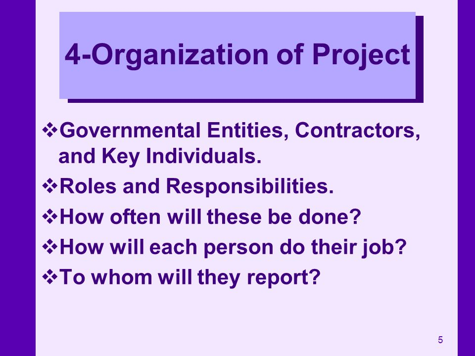 4-Organization of Project