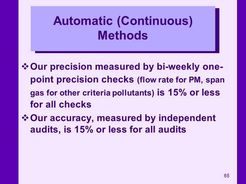 Automatic (Continuous) Methods