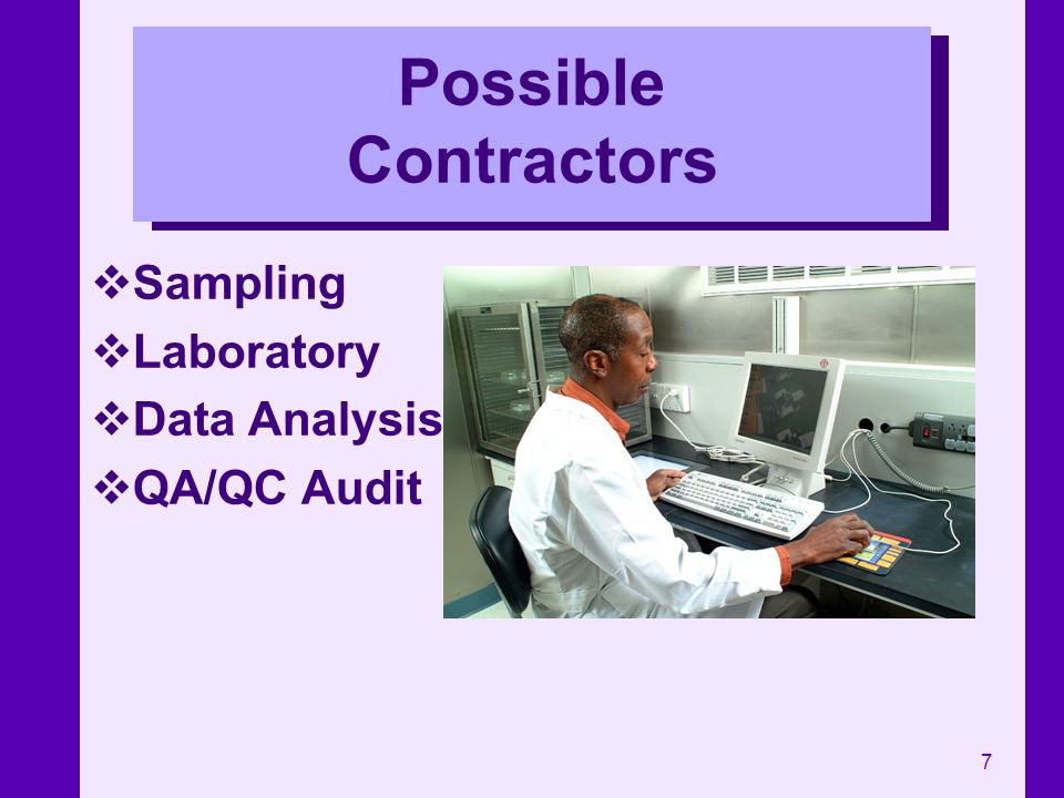 Possible Contractors Sampling Laboratory Data Analysis QA/QC Audit