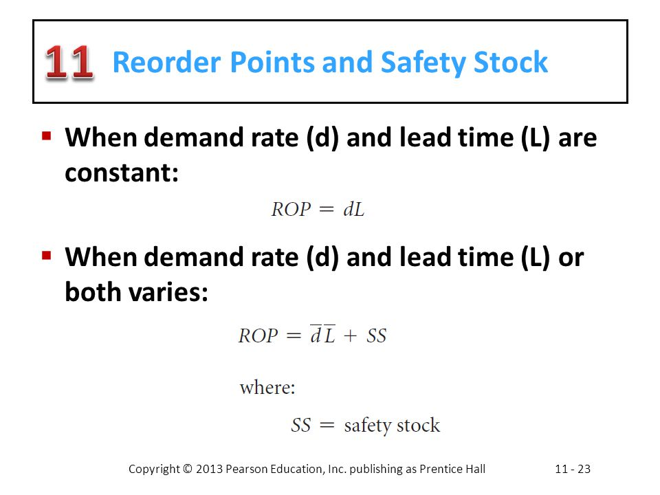 Reorder Points and Safety Stock