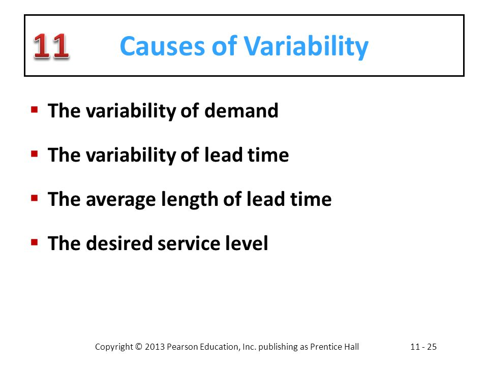 Causes of Variability The variability of demand