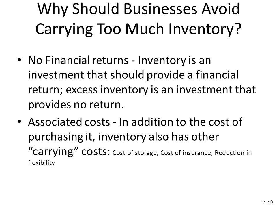 Why Should Businesses Avoid Carrying Too Much Inventory