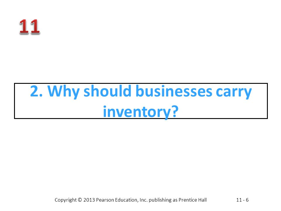 2. Why should businesses carry inventory