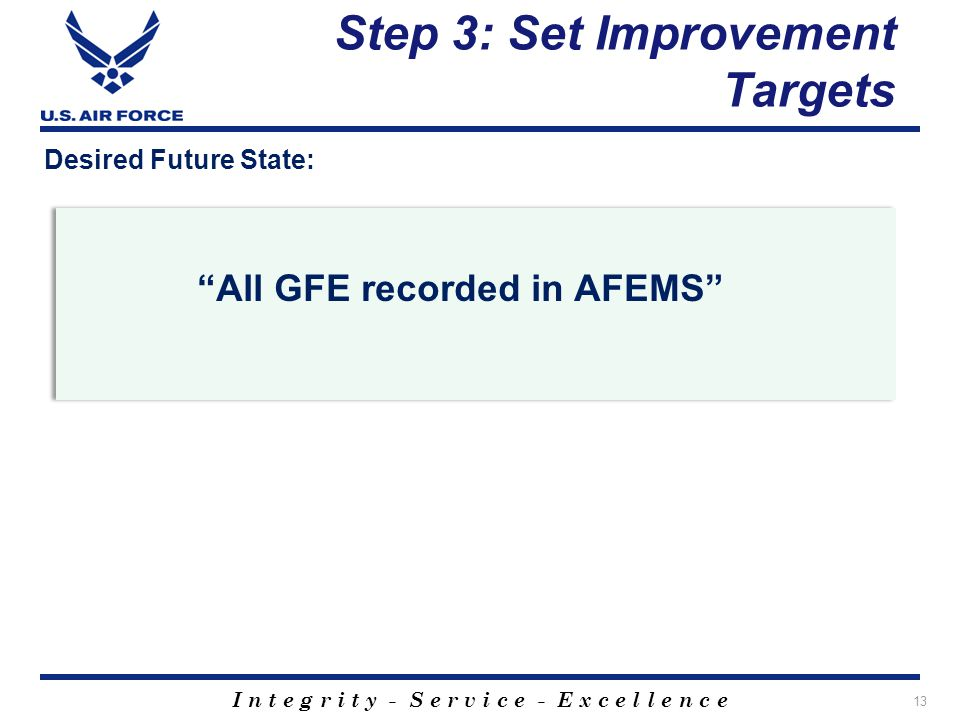 Step 3: Set Improvement Targets