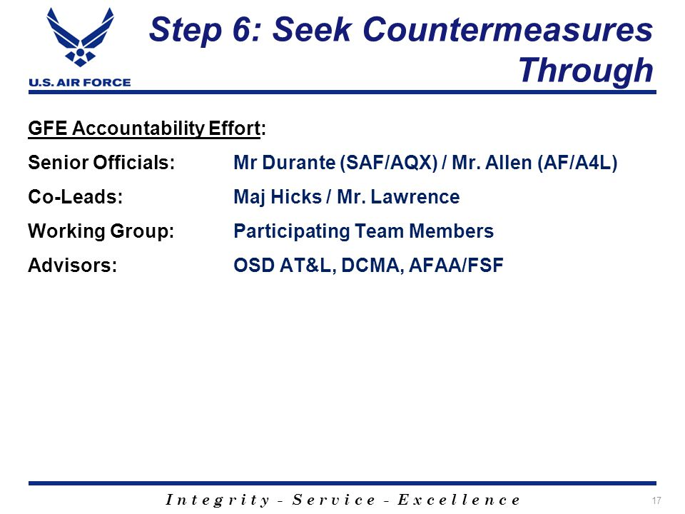 Step 6: Seek Countermeasures Through