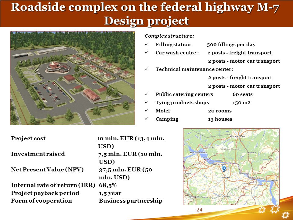 Roadside complex on the federal highway М-7 Design project