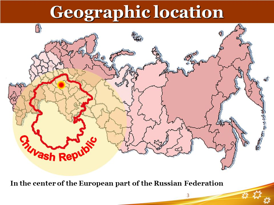 Geographic location Chuvash Republic