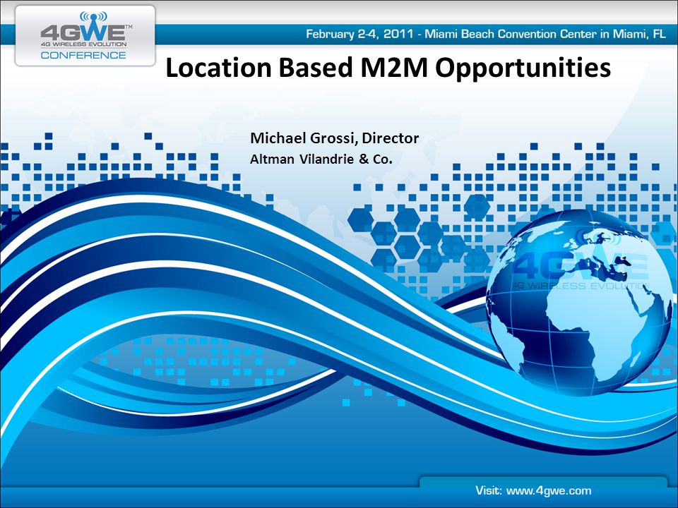 Location Based M2M Opportunities
