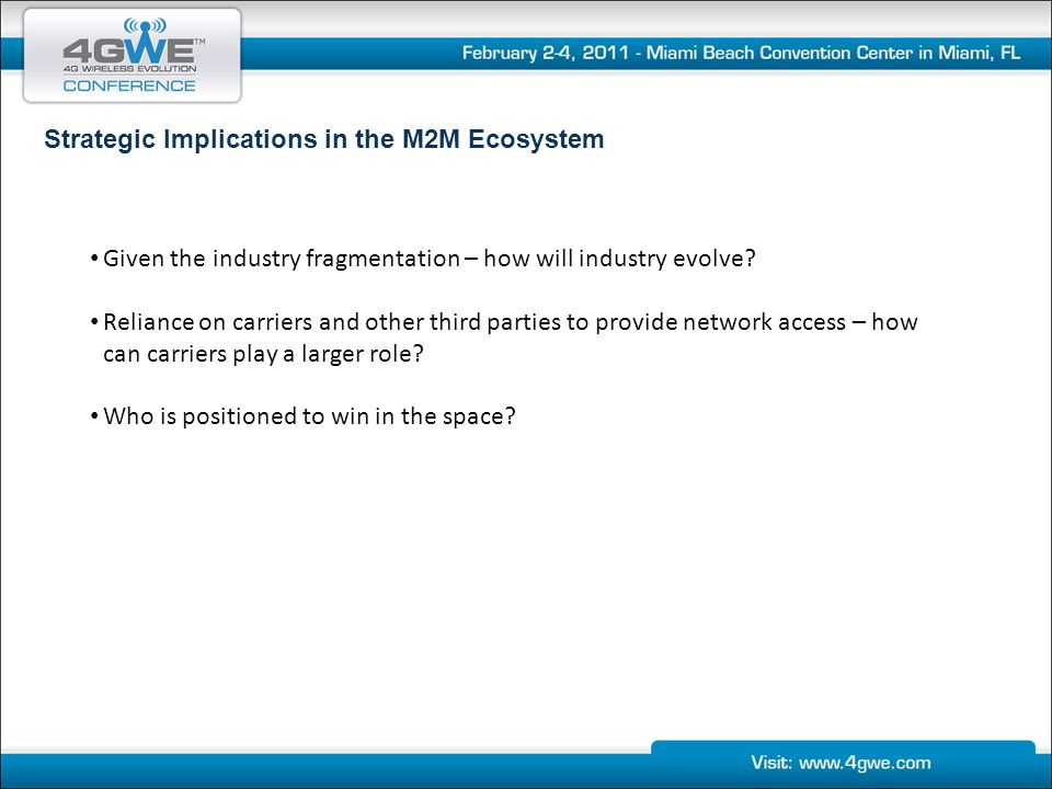 Strategic Implications in the M2M Ecosystem