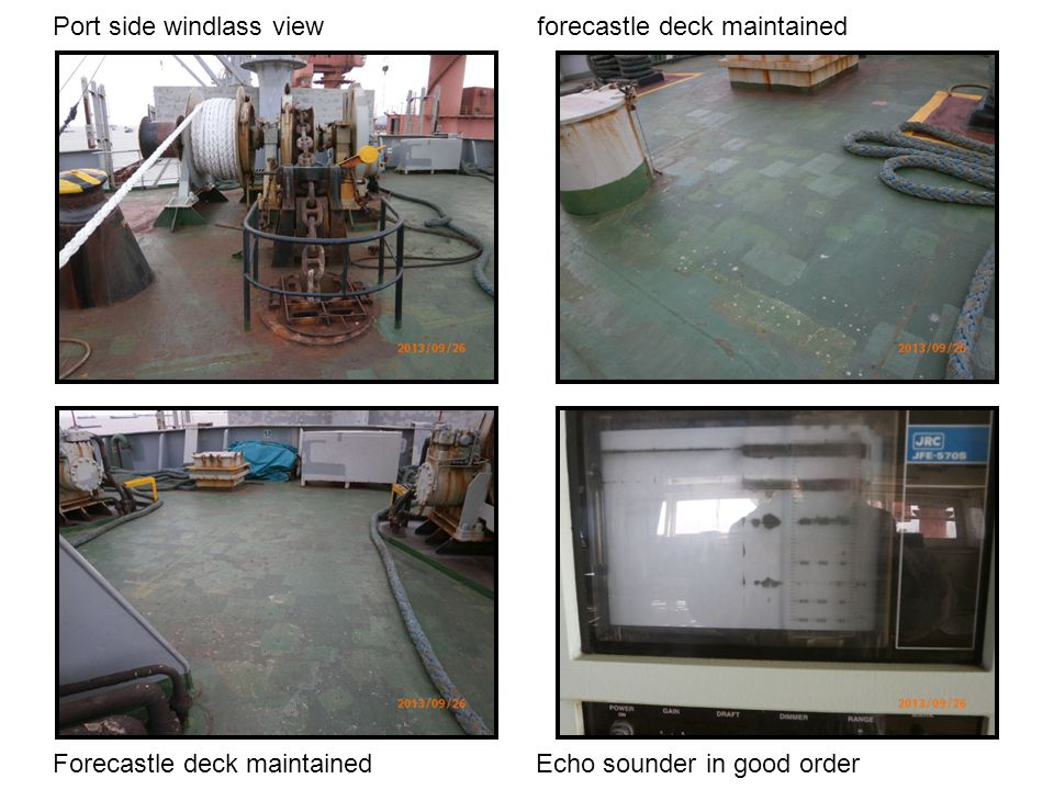 Port side windlass view forecastle deck maintained
