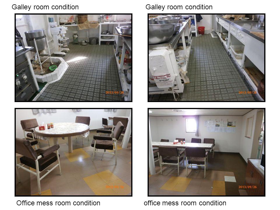 Galley room condition Galley room condition