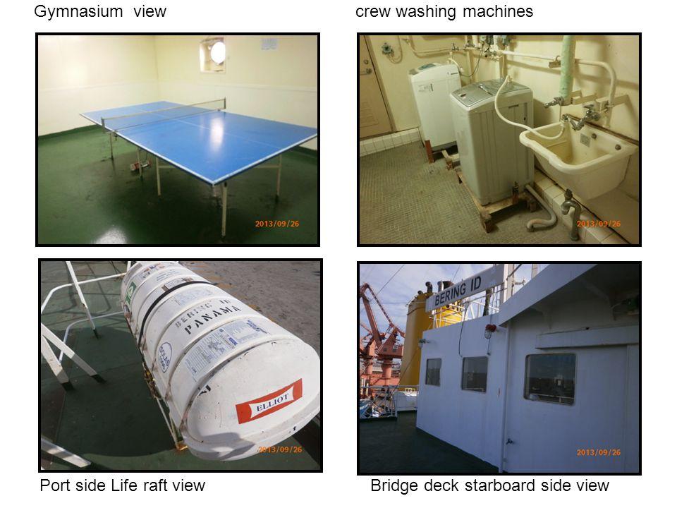 Gymnasium view crew washing machines