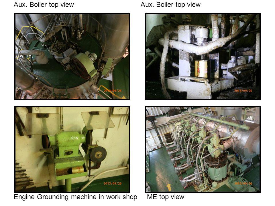Aux. Boiler top view Aux. Boiler top view