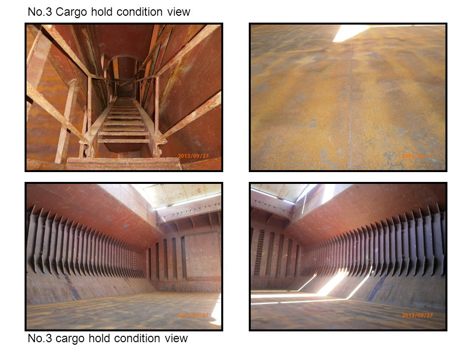 No.3 Cargo hold condition view