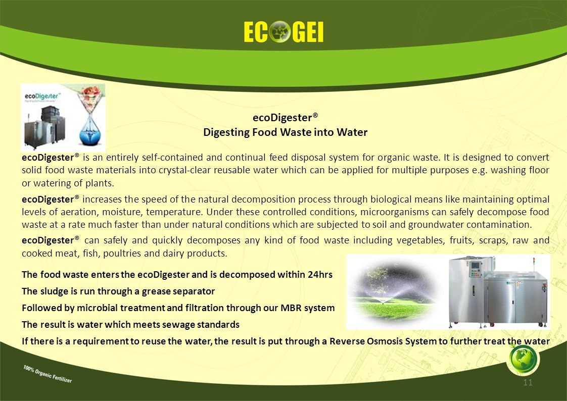 Digesting Food Waste into Water