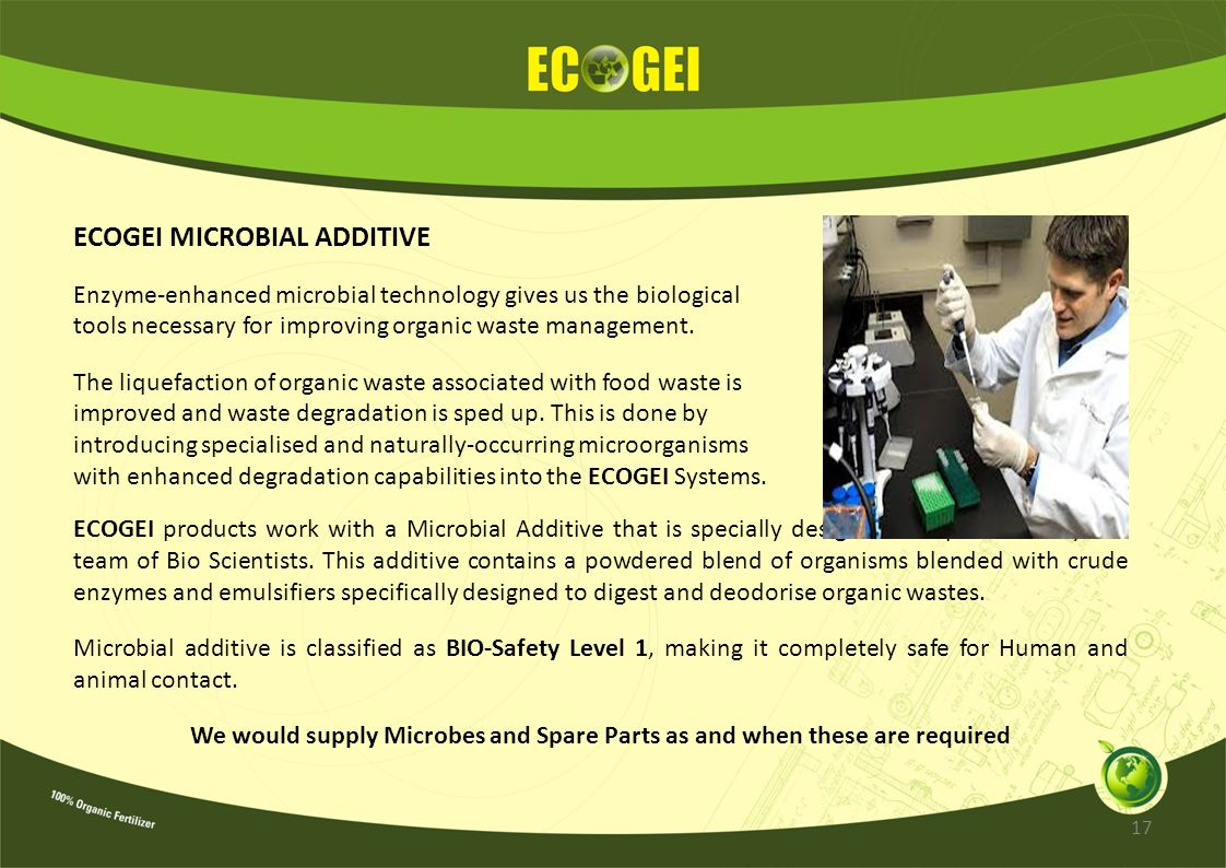 ECOGEI MICROBIAL ADDITIVE