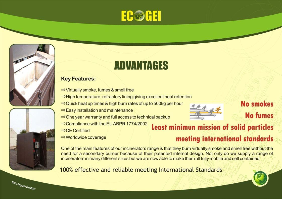 APPLICATION OF ECOGEI/ECO-WIZ ECODIGESTERS IN: