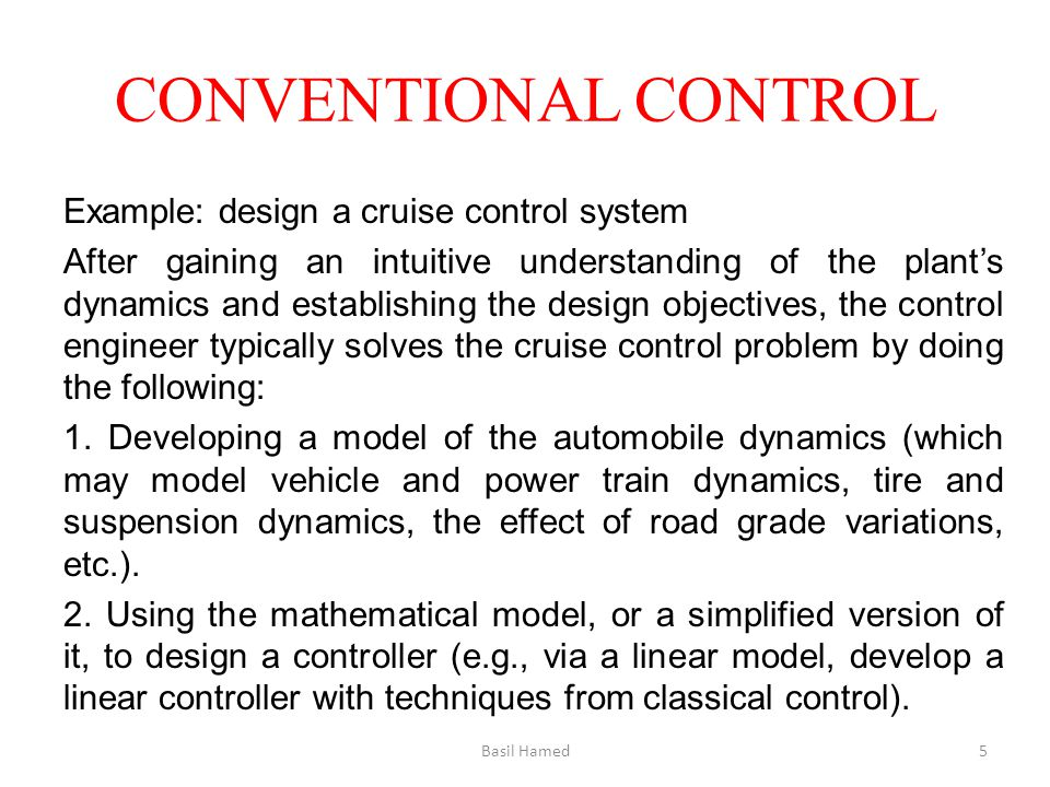 CONVENTIONAL CONTROL