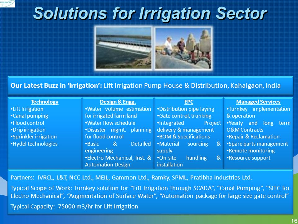 Solutions for Irrigation Sector