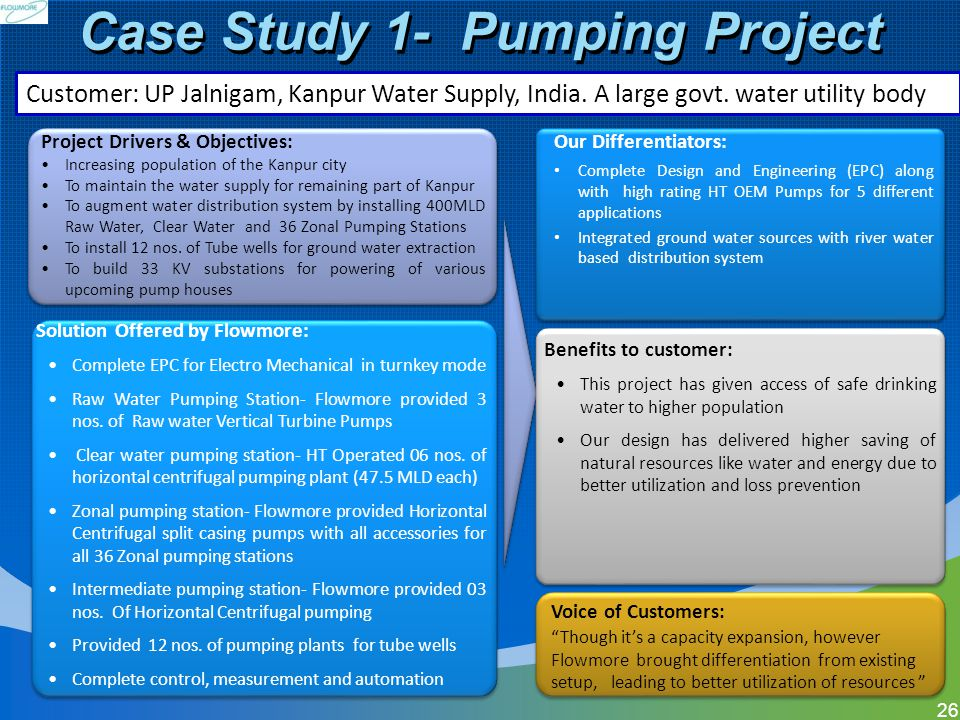 Case Study 1- Pumping Project