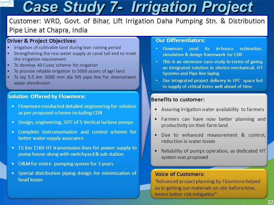 Case Study 7- Irrigation Project