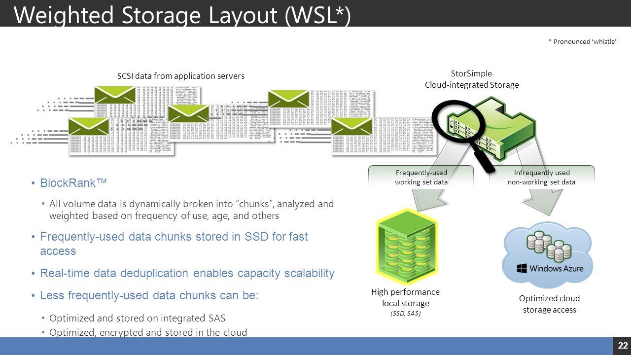 Weighted Storage Layout (WSL