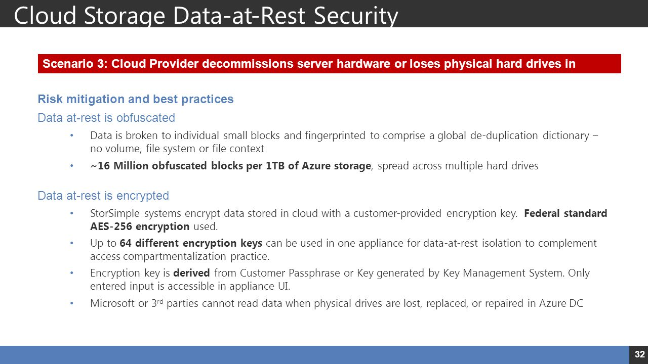 Cloud Storage Data-at-Rest Security