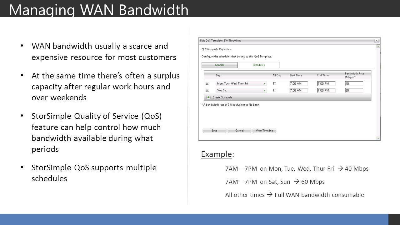 Managing WAN Bandwidth