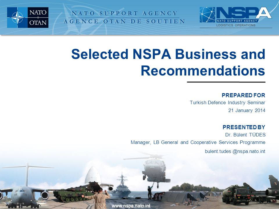 Selected NSPA Business and Recommendations