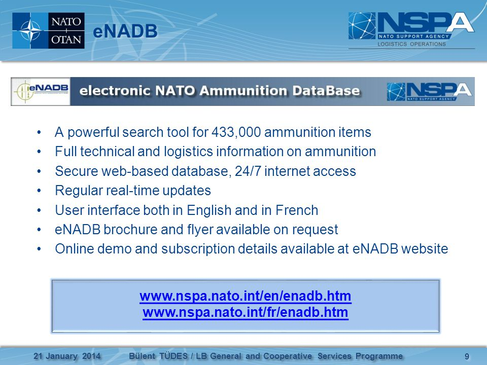 eNADB A powerful search tool for 433,000 ammunition items