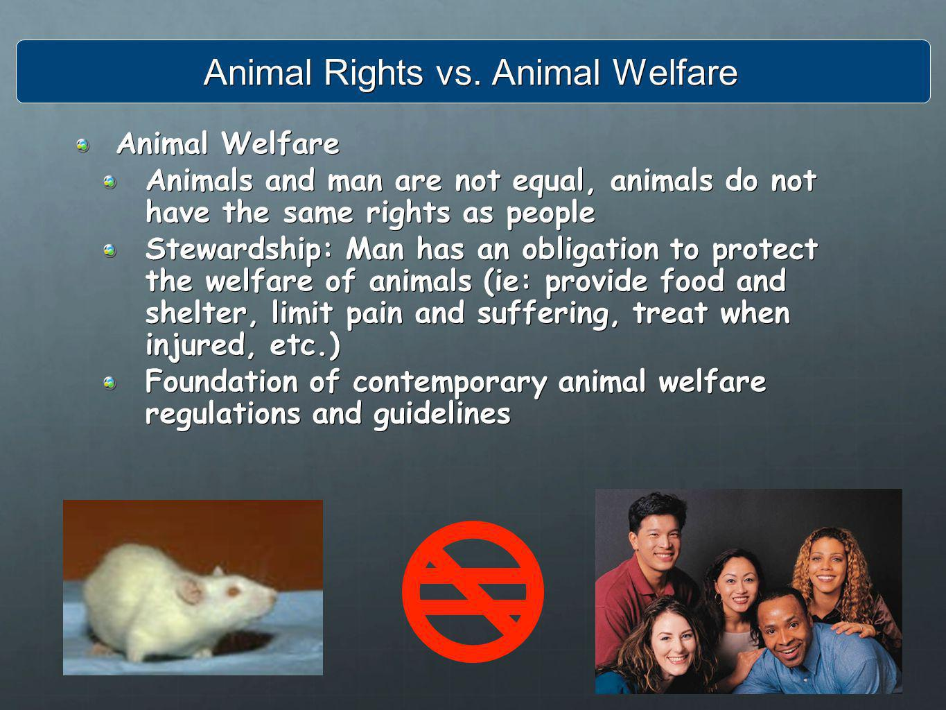 Animal Rights vs. Animal Welfare
