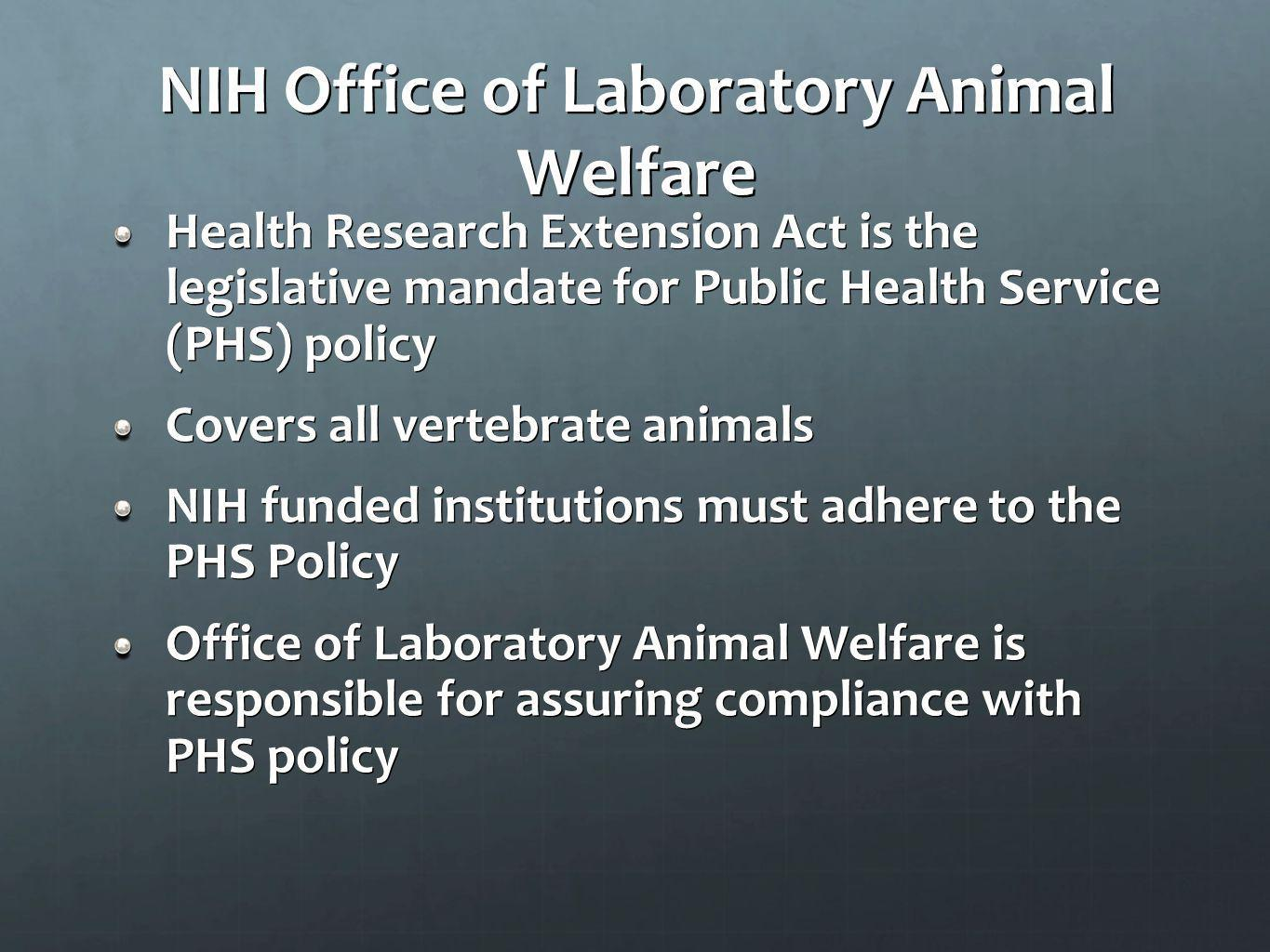 NIH Office of Laboratory Animal Welfare