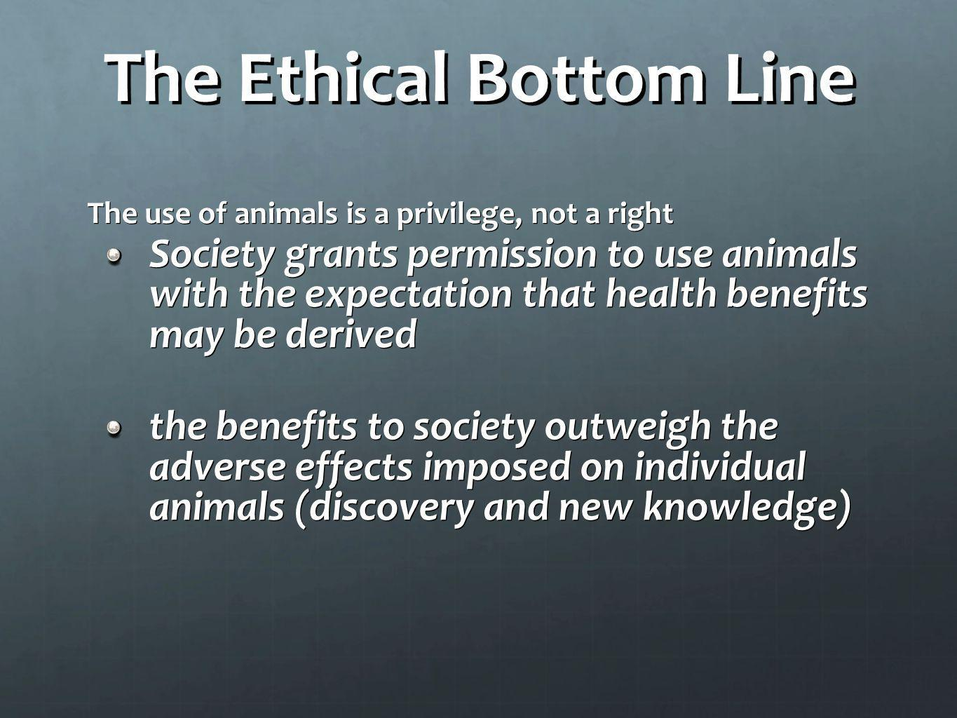 The Ethical Bottom Line
