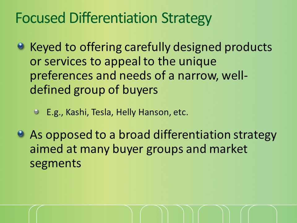 gucci focused differentiation strategy Strategies at burberry hybrid strategy- seeks to achieve both price and differentiation strategy, focused differentiation strategy-seeks to.