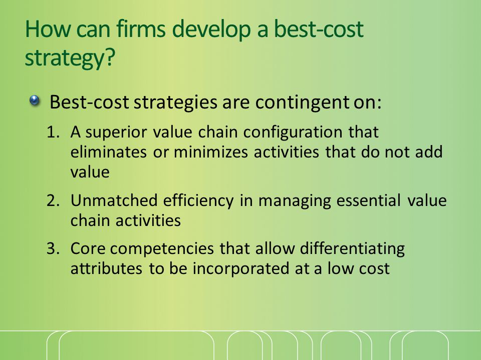How can firms develop a best-cost strategy