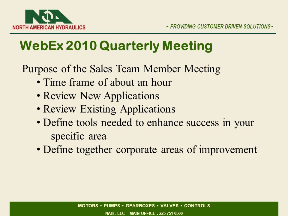 WebEx 2010 Quarterly Meeting