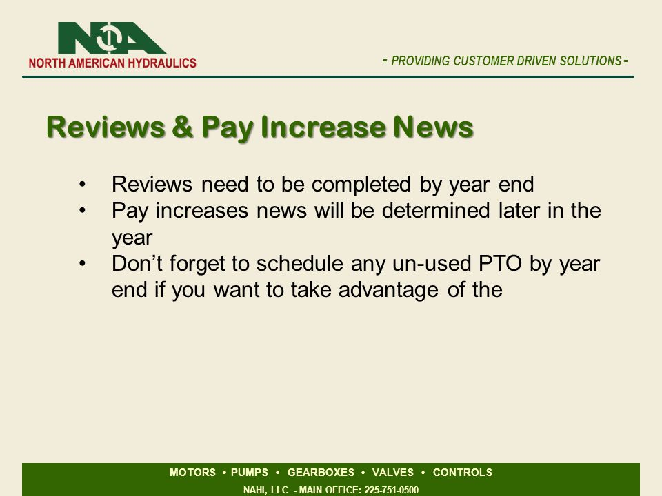 Reviews & Pay Increase News