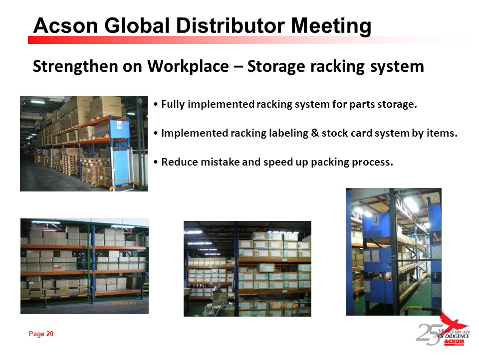 Strengthen on Workplace – Storage racking system