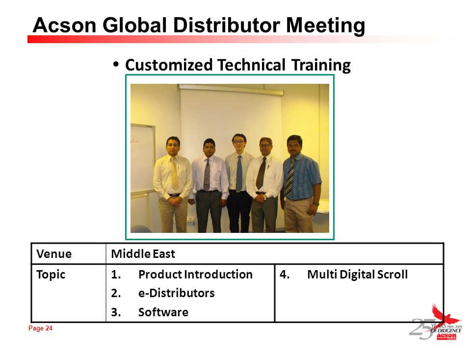 Customized Technical Training