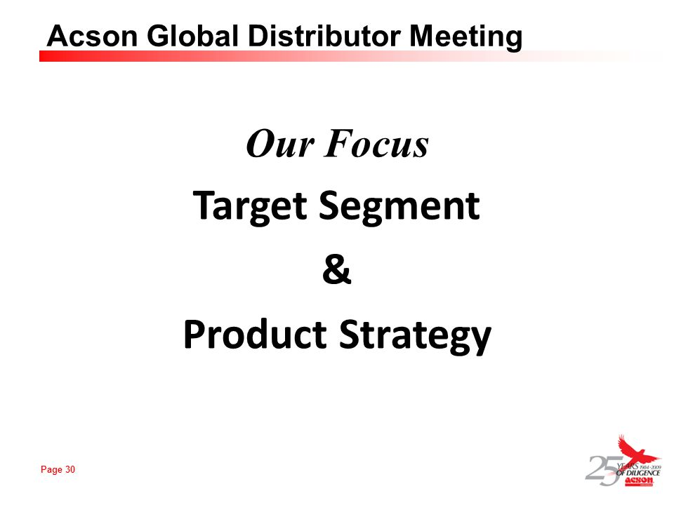 Target Segment & Product Strategy