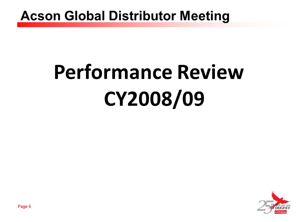 Performance Review CY2008/09
