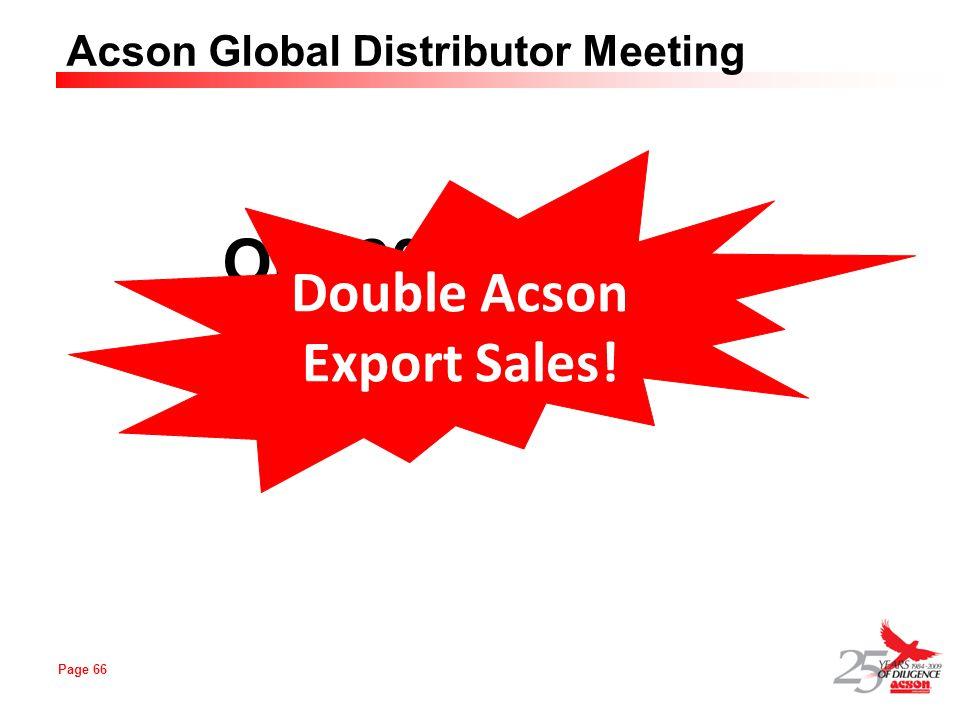 Double Acson Export Sales!