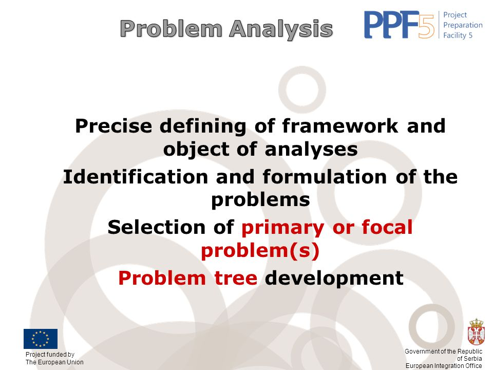 Precise defining of framework and object of analyses