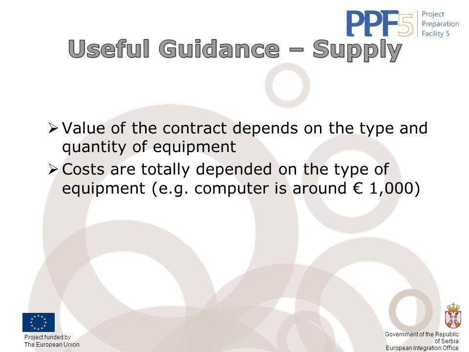 Useful Guidance – Supply