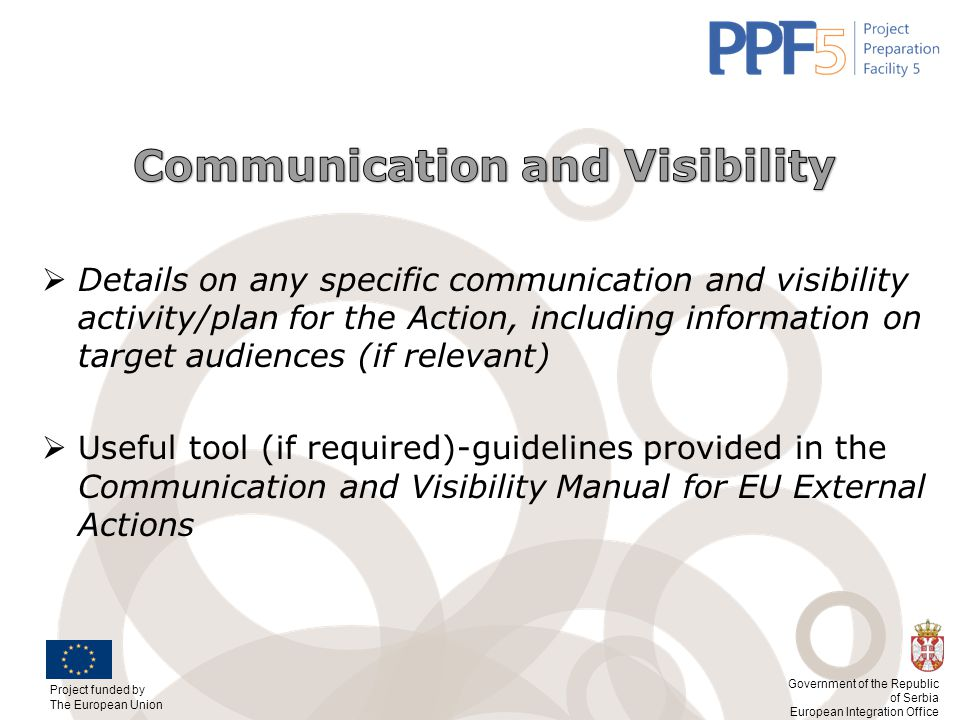 Communication and Visibility